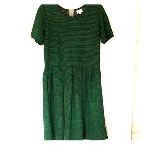 Lularoe Holiday Green Amelia Dress